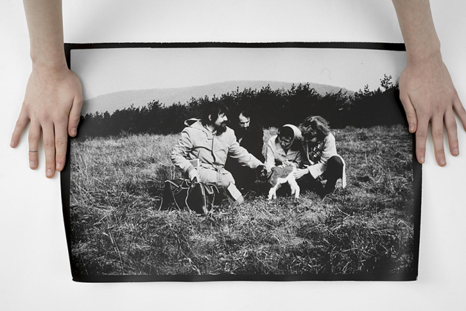 Peter Bartoš and Petra Feriancocá, Grazing a Lamb, 1979/2016 – original photos from the archive of Květa Fulierová