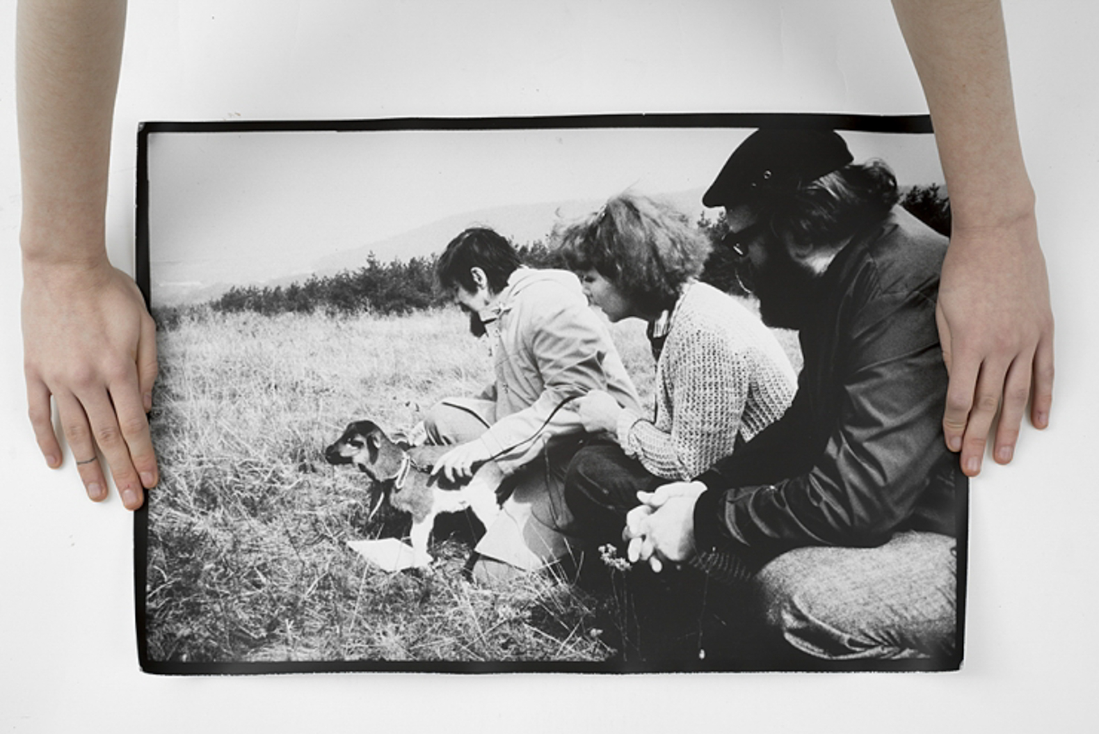 Peter Bartoš and Petra Feriancocá, Grazing a Lamb, 1979/2016 – original photos from the archive of Květa Fulierová