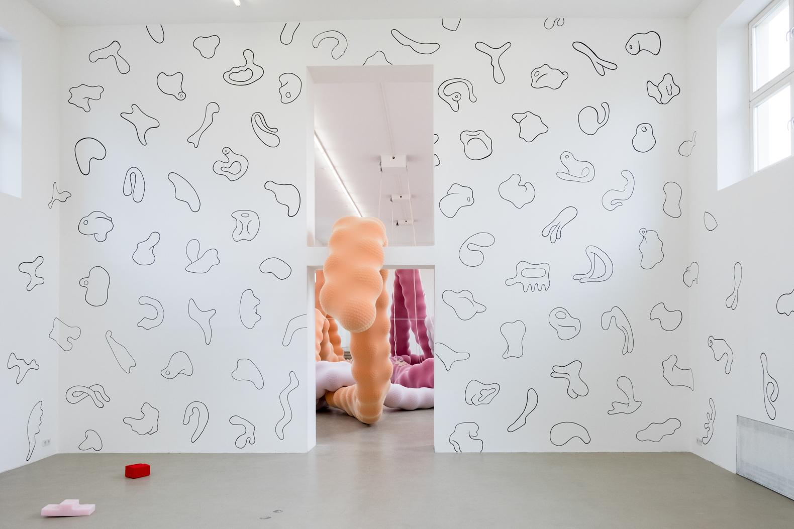 Eva Fàbregas, Those things that your fingers can tell, Polifilia,Self-organisingSystem,Kunstverein München, 2019