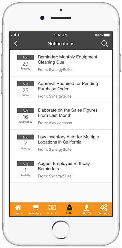 Electronic Document Management Screenshot