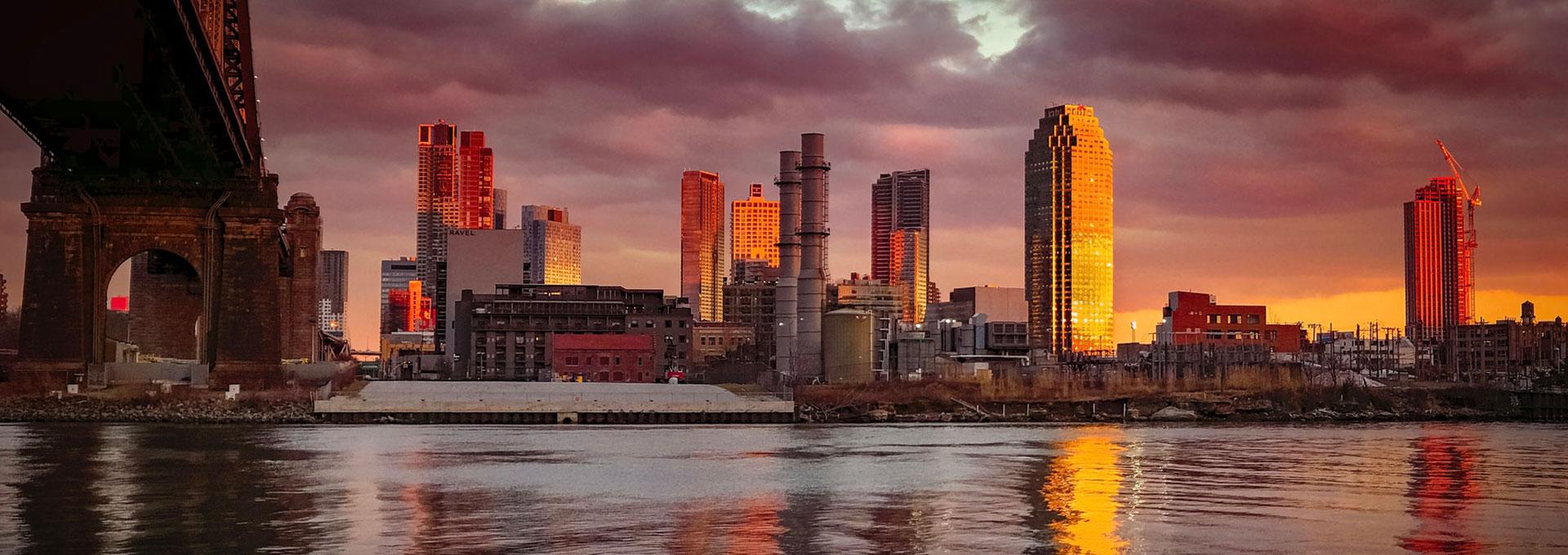 city business district skyline