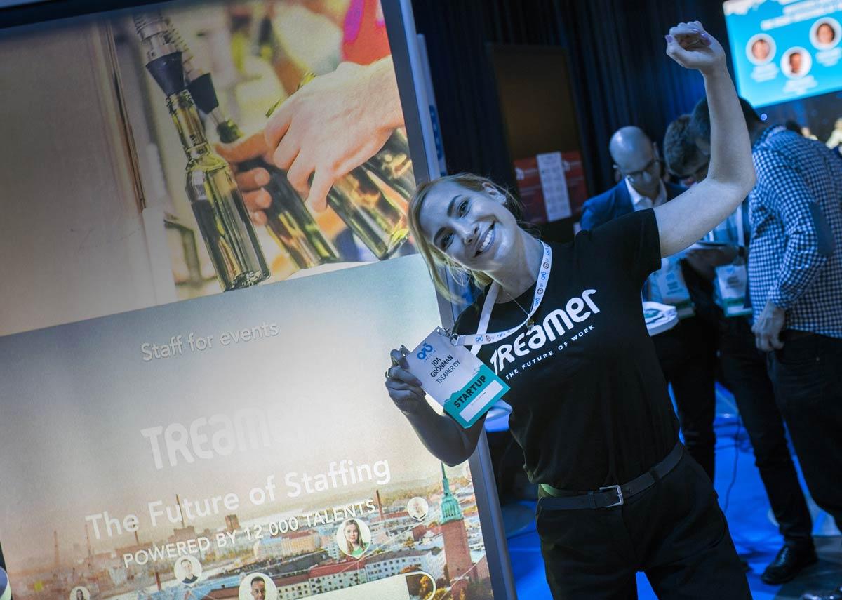 Treamerin myyntipäällikkö Ida Grönman Arctic15-tapahtumassa