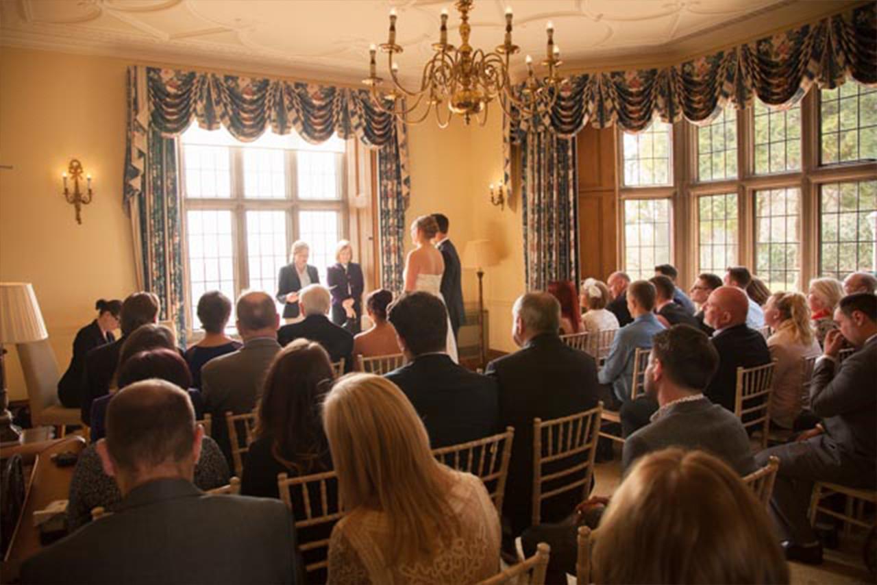Silver Wedding at Callow Hall, Derbyshire