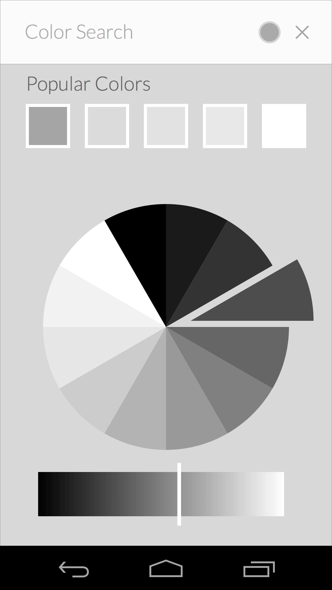 Unused color search