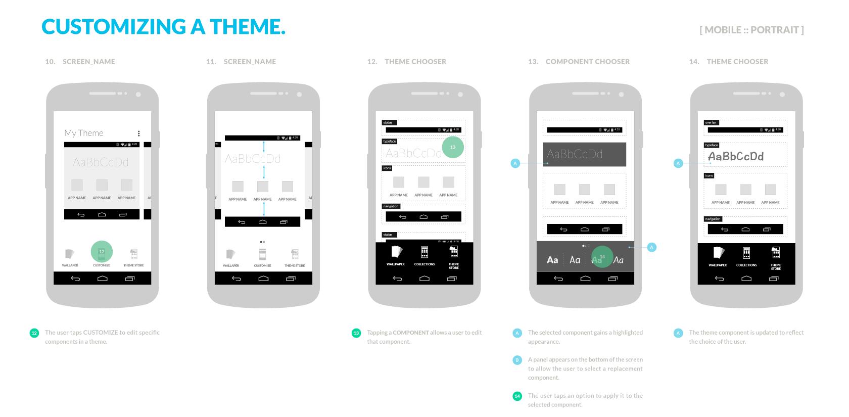 Theme chooser UX sample (by teammate Adrian Valencia)
