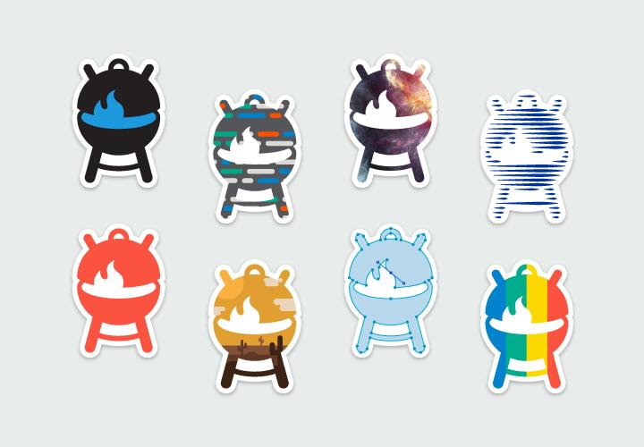 Grillbot sticker set