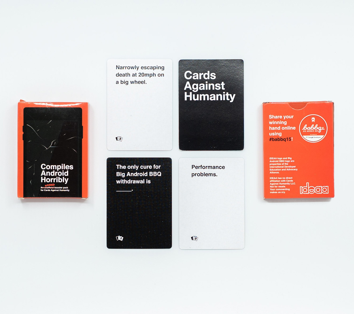 Big Android BBQ-themed booster for Cards Against Humanity