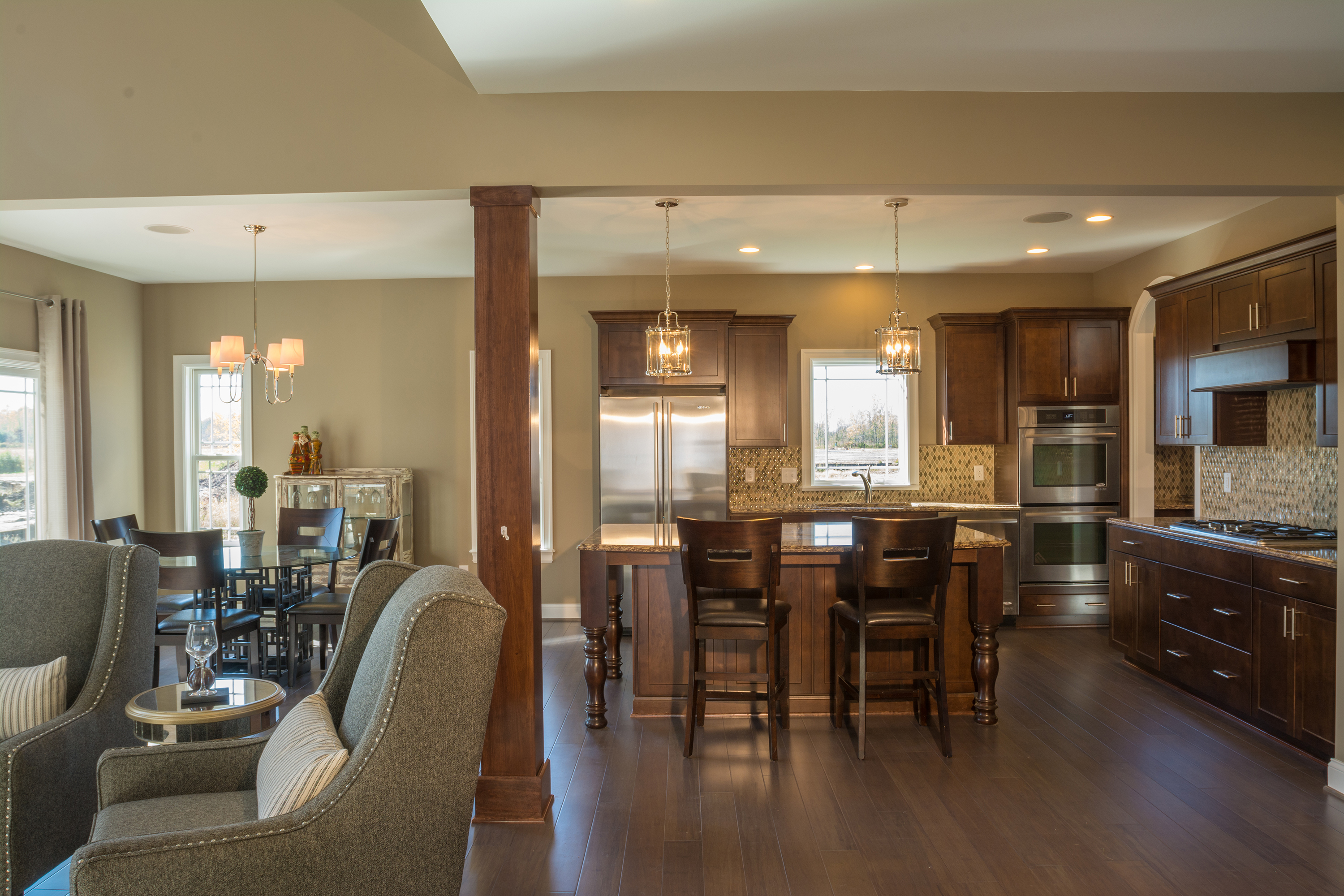 Interior kitchen open floor plan