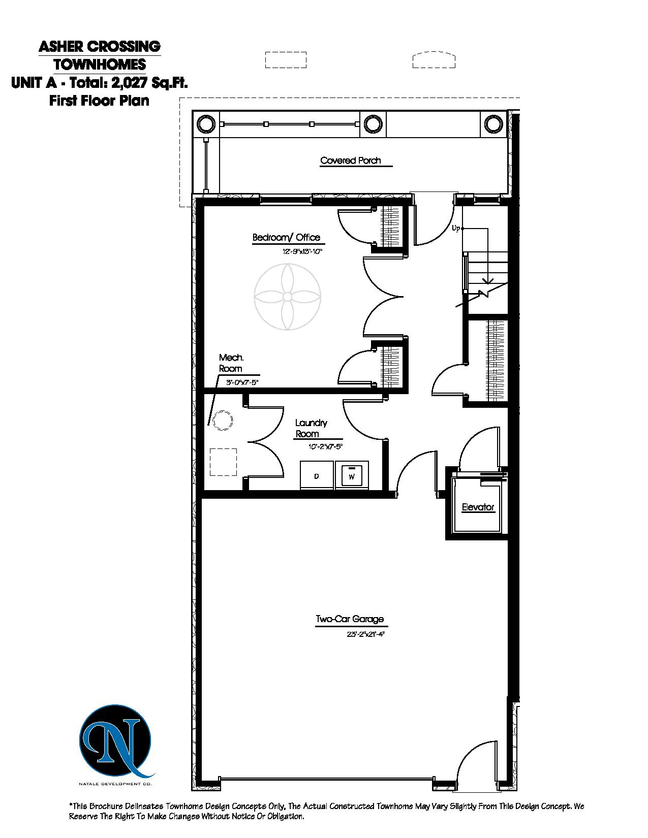 Asher crossing floor plans Unit a