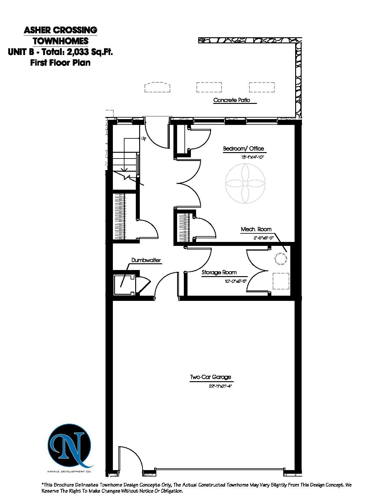 Asher crossing floor plans Unit  b