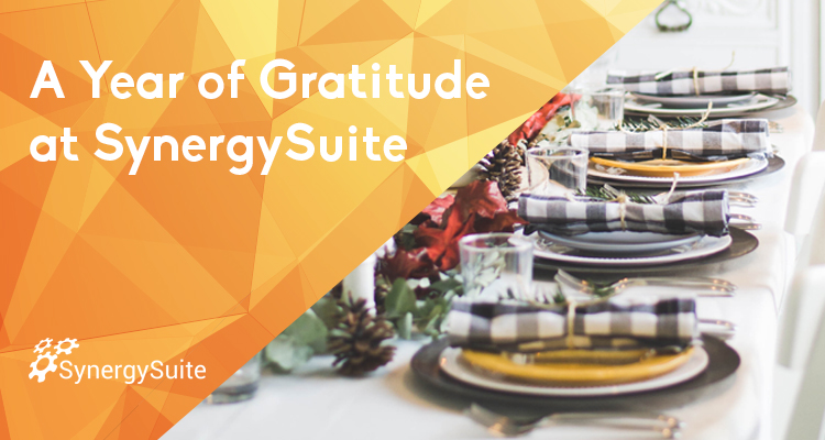 A Year of Gratitude at SynergySuite blog header image
