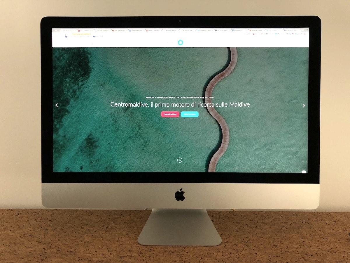 Realizzazione sito centro Maldive