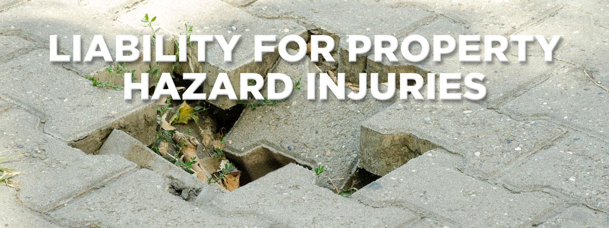 Uneven paver bricks that are a tripping hazard