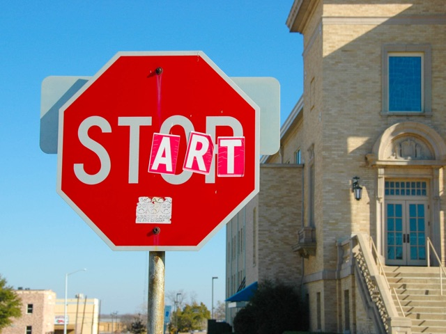 stop start sign