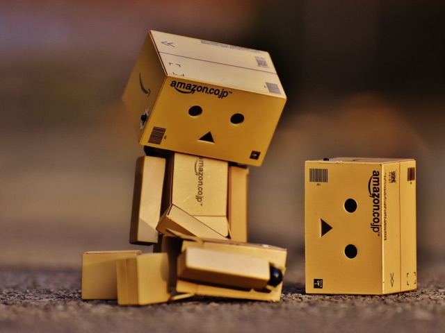 box broken into pieces