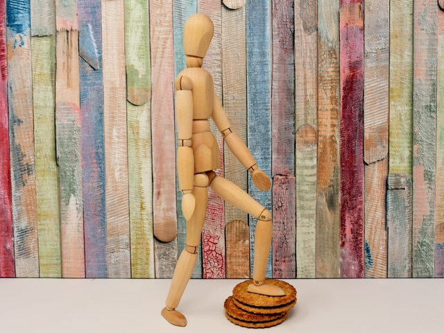 figure standing on a cracker