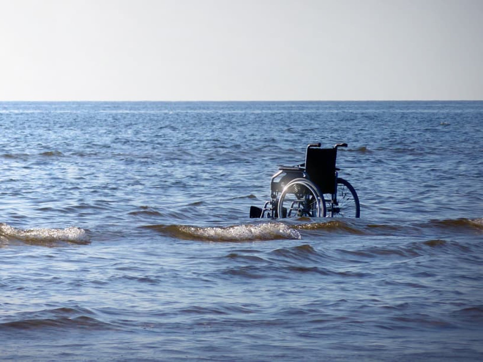 wheelchair at sea
