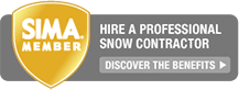 SIMA member professional commercial snow removal