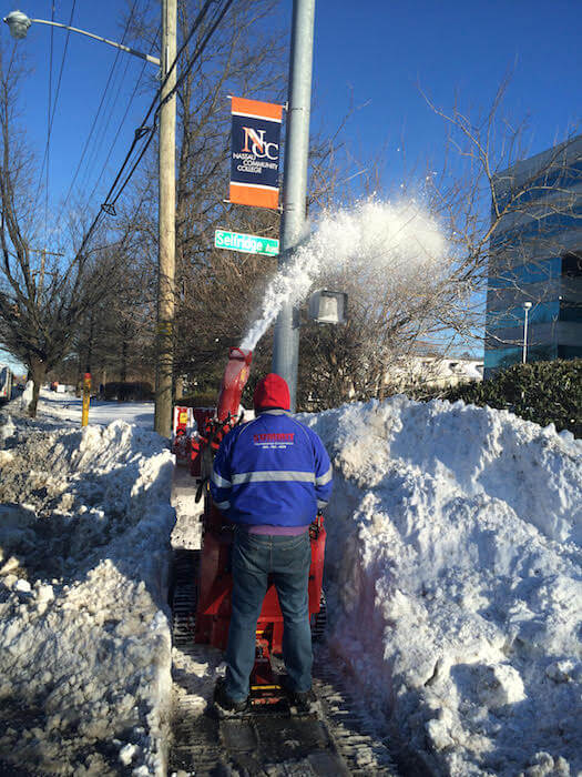 Summit commercial snow removal job