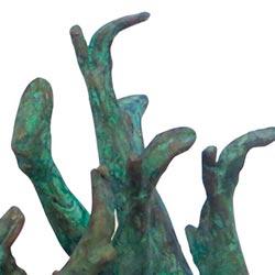Dansende benen Bronzen Beeld Project Verborgen Benen