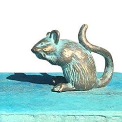 zomerrokje beeld brons