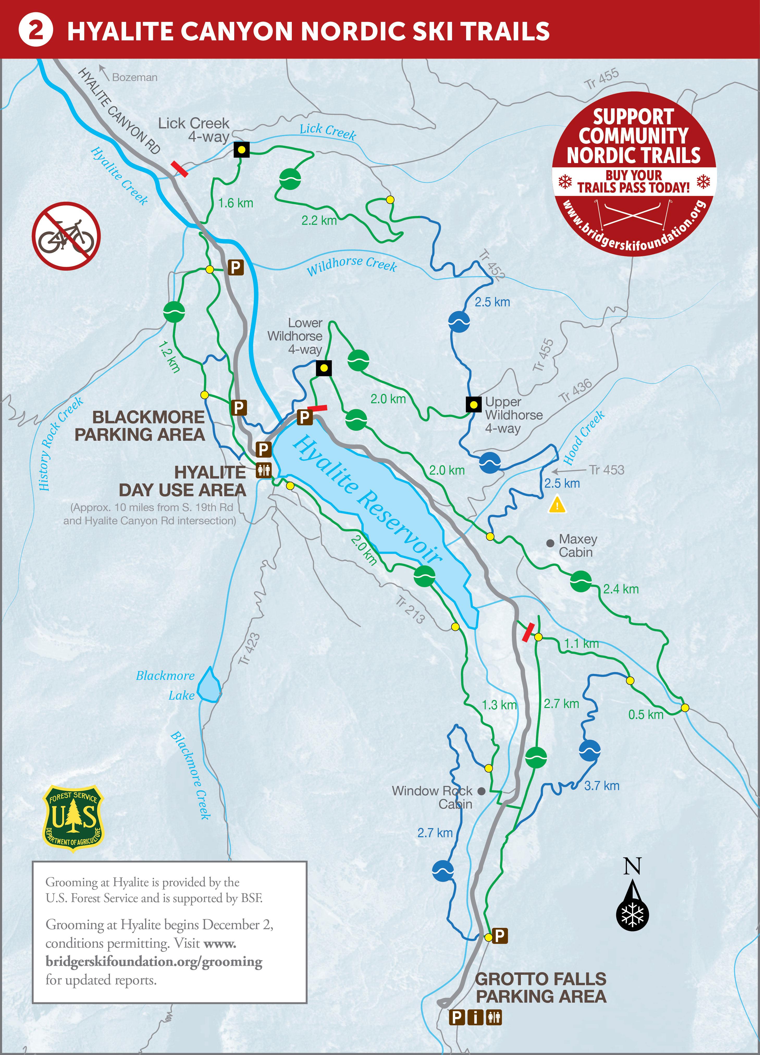 Bozeman Community Nordic Trails Maps on