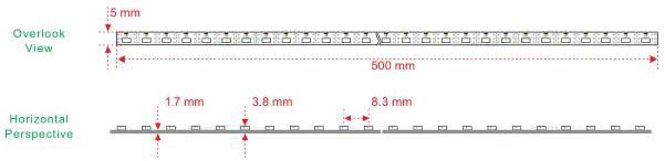 rgb profil mit seitenabstrahlung maße
