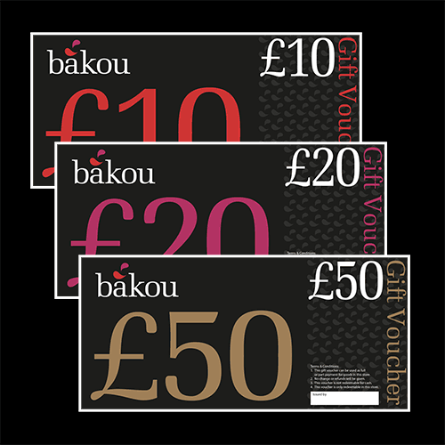 A graphic showing gift vouchers in £10, £20 and £50