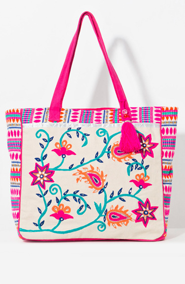 Colourful bag from Pia Rossini at Bakou in West Wimbledon
