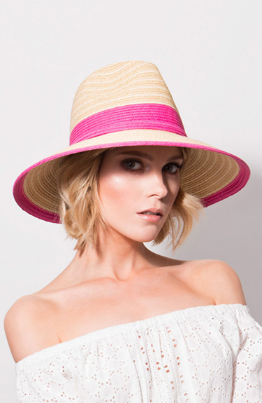 Sophisticated Sun Hat from Pia Rossini at Bakou in West Wimbledon