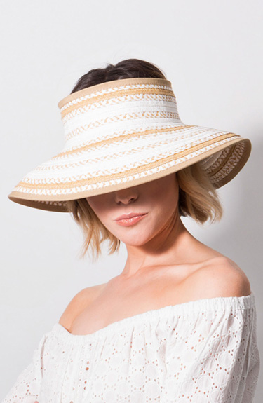 Sophisticated Visor Hat from Pia Rossini at Bakou in West Wimbledon