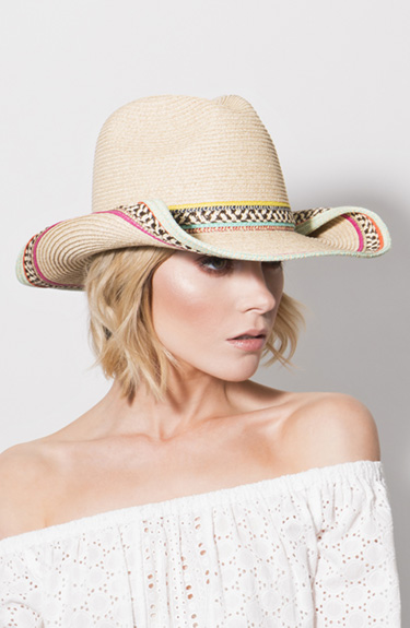 Lovely Cowboy Style Hat from Pia Rossini at Bakou in West Wimbledon