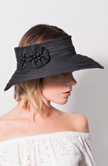 Stylish Visor Hat from Pia Rossini at Bakou in West Wimbledon