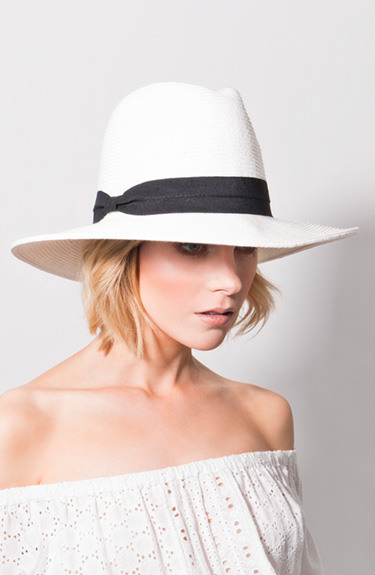 Stylish Summer Hat from Pia Rossini at Bakou in West Wimbledon