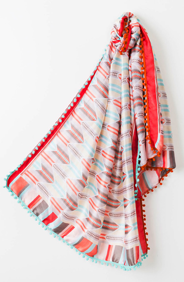 Colourful Summer Scarf from Pia Rossini at Bakou in West Wimbledon