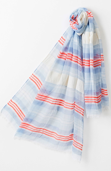 Stripey Summer Scarf from Pia Rossini at Bakou in West Wimbledon