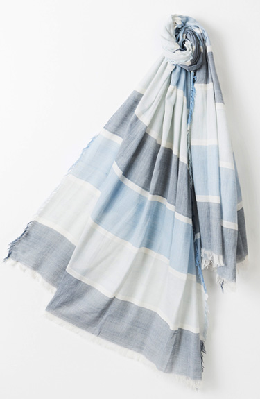 Sea Blue Shaded Summer Scarf from Pia Rossini at Bakou in West Wimbledon