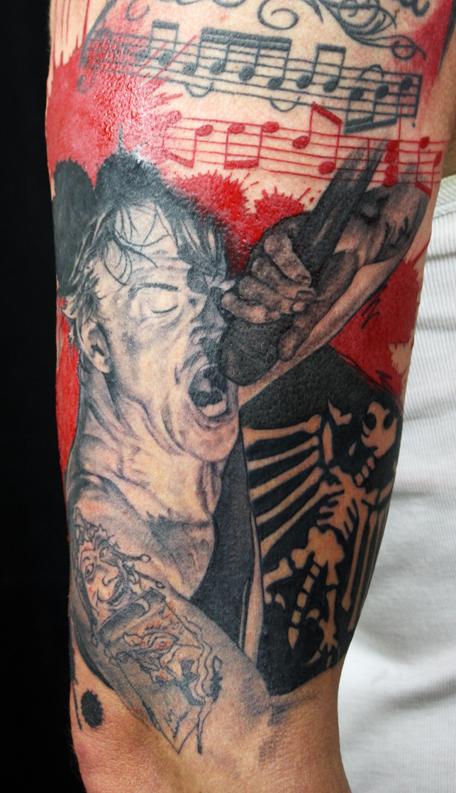 Campino from Die Toten Hosen healed portrait, with freshly done background
