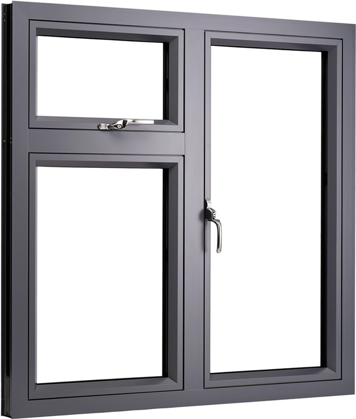 Aluminium flush casement windows