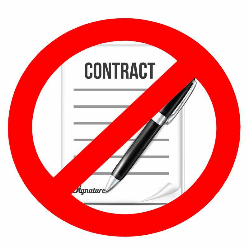Crandell Pest Control has a no contract policy.