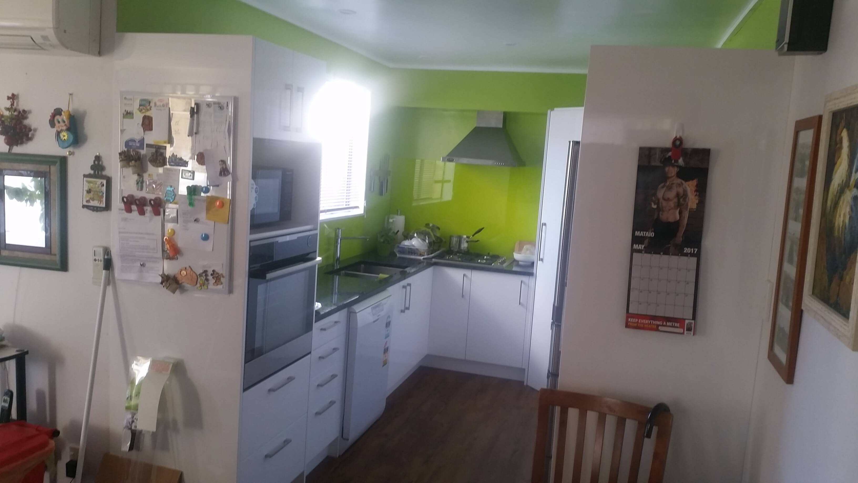 mitre 10 kitchen installaion, flat pack, renovation,