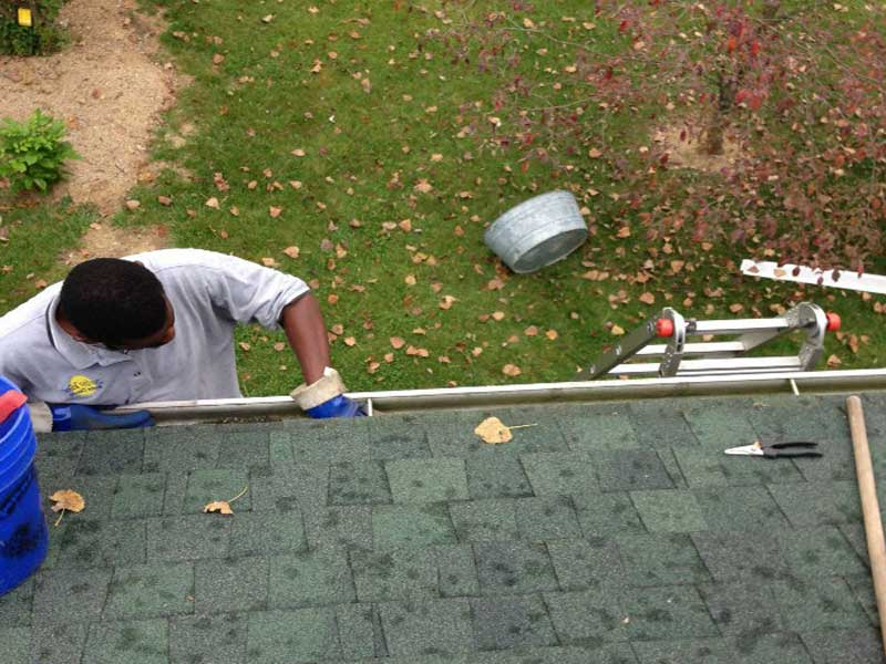During fall is a good time to have your gutters cleaned.