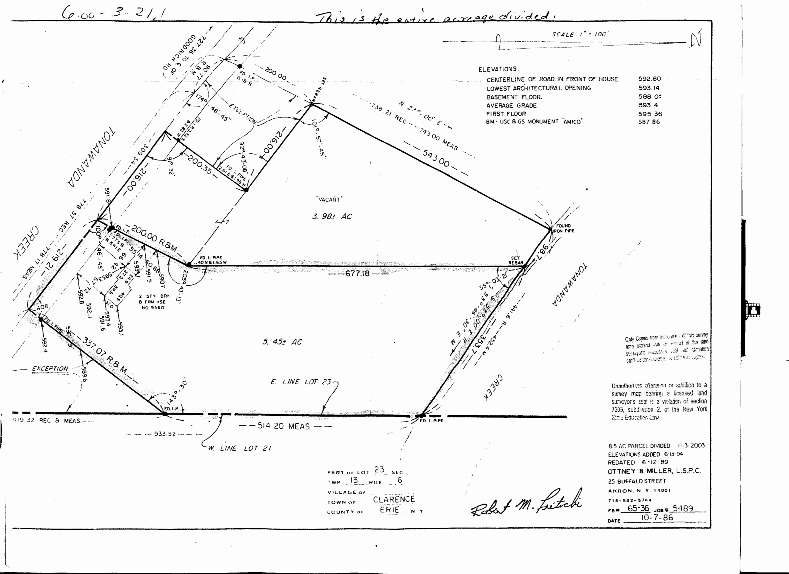 "9560 Tonawanda Creek - ""Executive lot"""