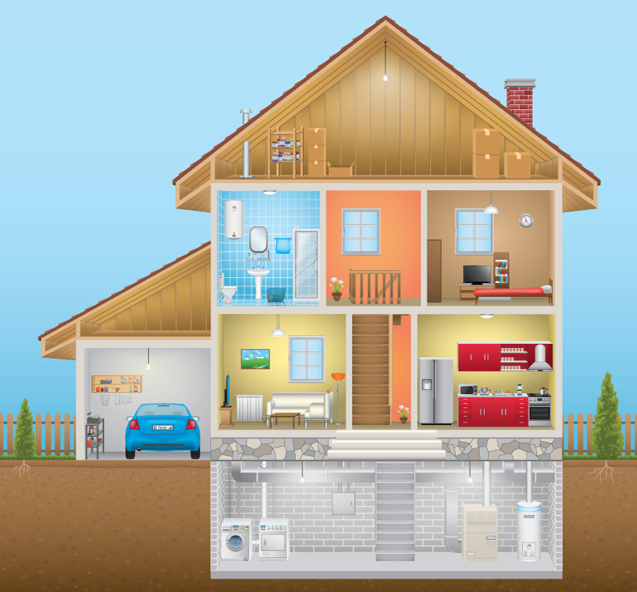 Exterior of a house graphic