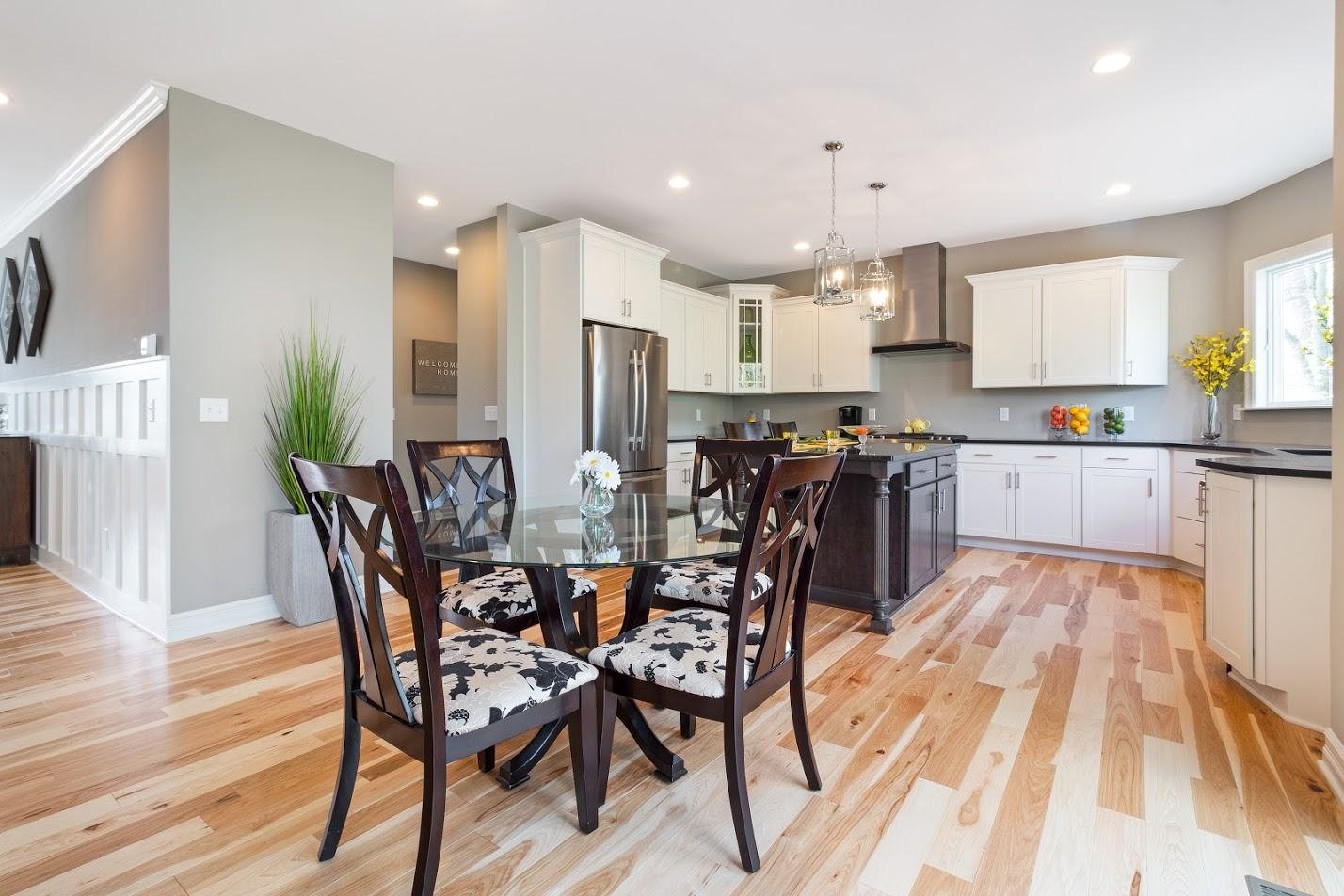 hardwood floor kitchen interior