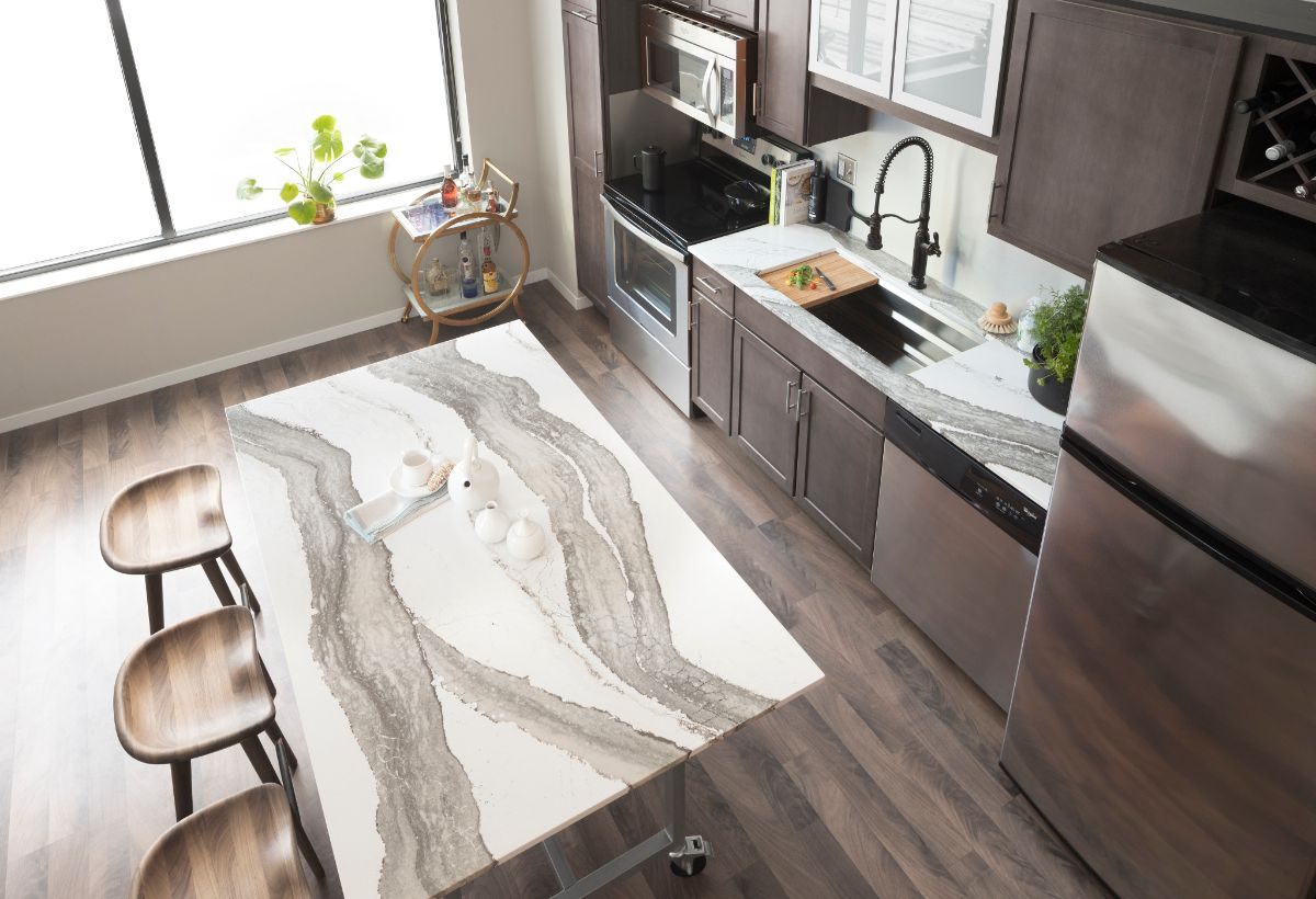 light colored kitchen grey