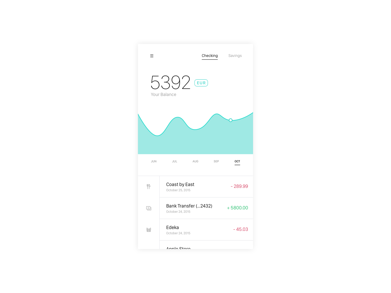 UI App Design: Fintech