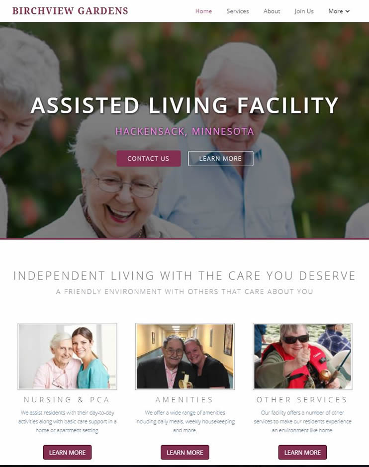 living facility website