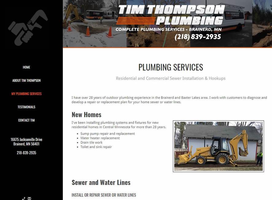 brainerd plumber website