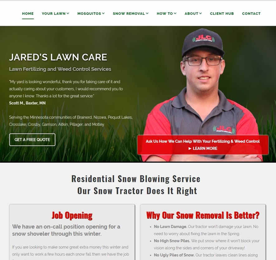 lawn fertilizing website